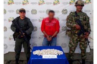 En Montelíbano autoridades capturaron a un hombre con 3.596 dosis de coca