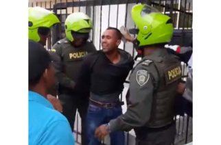 Video: Peñonazo a presunto ladrón que le disparó a comerciante en el barrio La Julia de Montería