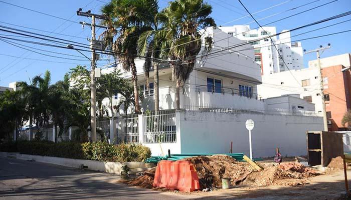 Desalojan la mansión de 'La Gata' en Barranquilla