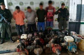 En zona rural de Ayapel fueron capturadas cuatro personas por Minería ilegal