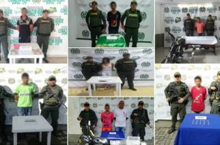 En Córdoba, ocho personas capturadas por tráfico de estupefacientes