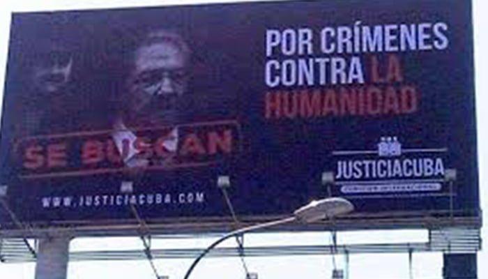 Lima se pronuncia en contra de Raúl Castro y Maduro con valla publicitaria