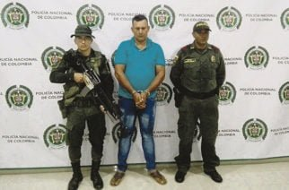 """En zona rural de Puerto Escondido la Policía capturó a """"Camboya """"del Clan del Golfo"""""""