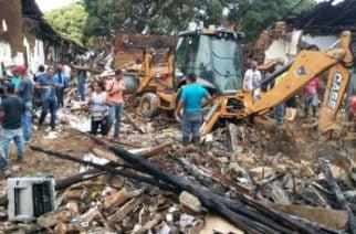 Fuerte explosión en centro de Santander de Quilichao causó destrozos en 12 locales comerciales