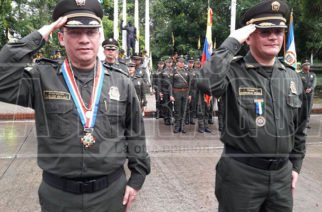 Cambio de comandantes de la Policía Córdoba y Metropolitana de Montería