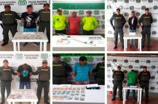 Capturadas seis personas  por tráfico de estupefacientes en Córdoba