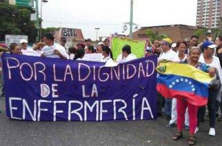 Por crisis económica enfermeras venezolanas anuncian paro indefinido