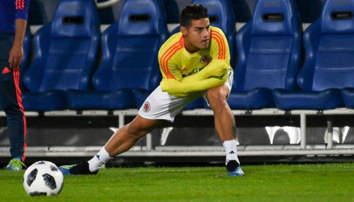 James no se entrenó con Colombia y estaría lesionado