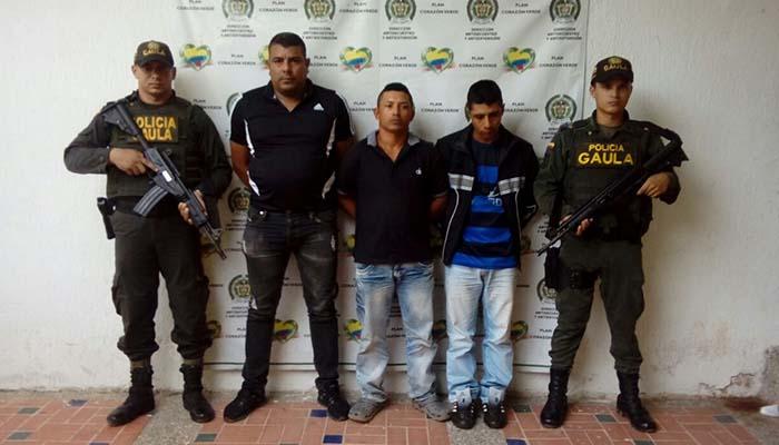 """El Gaula captura a tres integrantes del """"Clan del Golfo"""" en Córdoba"""
