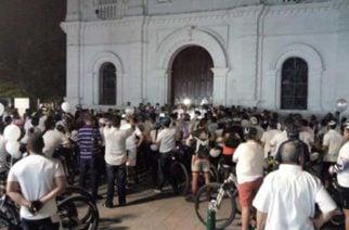 Ciclistas le rindieron homenaje a María Mónica
