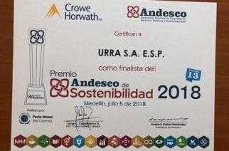 URRÁ finalista en Premio Andesco de Sostenibilidad 2018