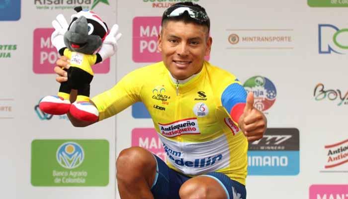 Caicedo es el nuevo líder de la Vuelta a Colombia