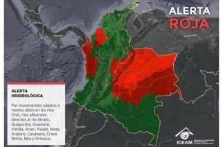 Alerta roja en río Sinú