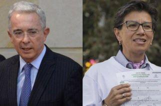 La tensión que hubo en Twitter entre Uribe y Claudia López por la Consulta Anticorrupción