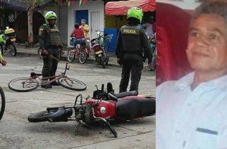 Muere hombre luego de choque de moto con bicicleta en Cereté