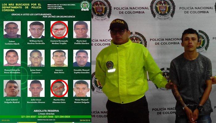Policía y Ejército capturaron jefe de sicarios del 'Clan del Golfo' en Tierralta