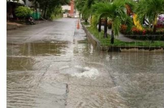 Manjoles colapsados tras torrencial aguacero en Montería