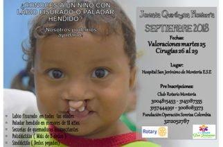 Montería recibe del 23 al 25 de septiembre a la 'Operación Sonrisa'