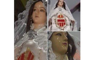 Viral en redes: Aseguran que la estatua de una virgen está llorando