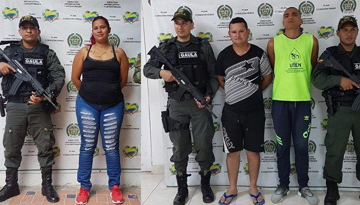 GAULA captura 3 integrantes del 'Clan del Golfo' dedicados a la extorsión en Córdoba