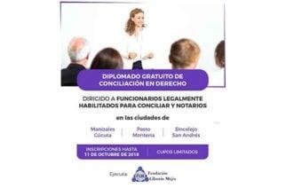 En Montería realizarán diplomado gratuito de conciliación en derecho para funcionarios y notarios