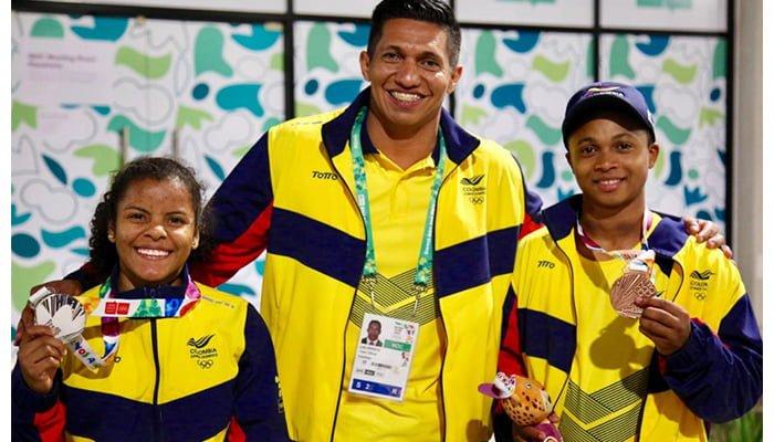 Dos oros, una plata y un bronce los logros de Colombia este lunes en Buenos Aires