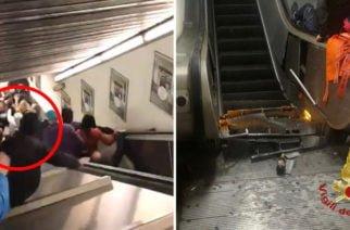 En video: Una veintena de heridos en Roma por desperfecto en escalera mecánica