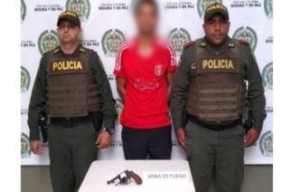 En acción oportuna, Policía Córdoba captura un hombre por porte ilegal de armas de fuego Lorica