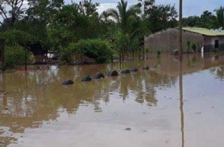Emergencia por inundaciones en Puerto libertador por desbordamiento del río San Pedro