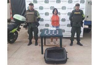 Policía captura una mujer con 10 kilos de marihuana y perico