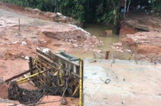Nuevamente se cayó el paso provisional del puente en Ayapel