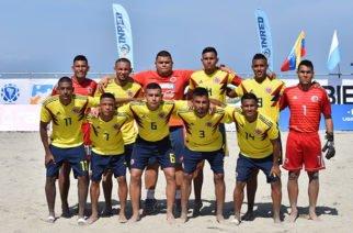 Selección Colombia Sub20 de Fútbol Playa debutó con victoria en Liga Sudamericana