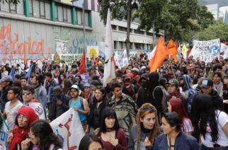 Hoy se lleva a cabo en Bogotá la última marcha estudiantil del año