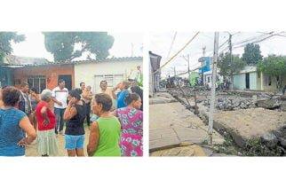 Vecinos del barrio Policarpa inconformes por obra de pavimentación