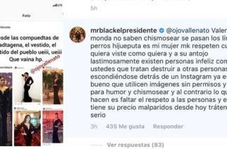 Mr. Black da fuerte respuesta a cuenta en Instagram que hizo meme con Yuranis