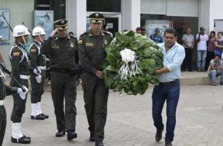 Policía rindió homenaje a víctimas del conflicto armado en Montelíbano