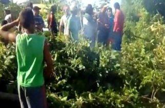 Cansados por el mal estado de la vía San Bernardo-Moñitos bloquearon para protestar