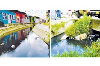 Barrio Santander sigue padeciendo por el canal colector
