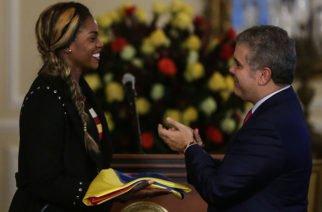 Caterine Ibargüen recibió la Orden Nacional al Mérito