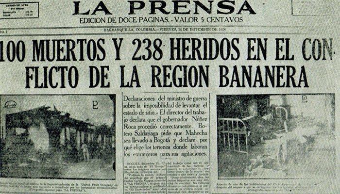 Colombia conmemora 90 años de la masacre de las Bananeras