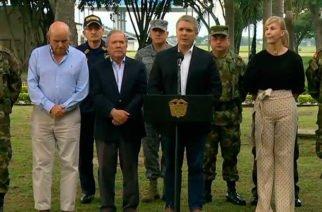"""""""Colombia no está fraguando ningún acto hostil o belicista contra ningún país de la región"""": Duque"""