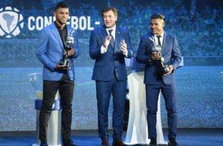 Cordobeses Borja y Morelo recibieron el botín de oro de la Libertadores