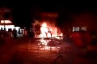 Vídeo: Alumbrado navideño en parque de Montelíbano se incendió