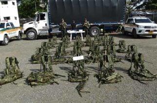 Policía Nacional incautó fusil, munición y otros elementos de intendencia en Chigorodó