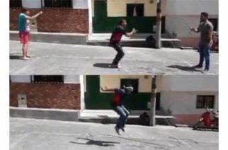 Broma épica: Lo invitan a saltar lazo y no se da cuenta que lo dejan solo