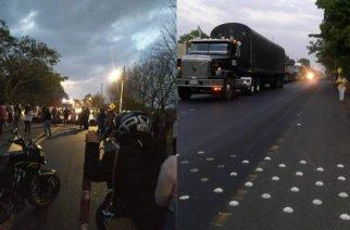 En Buenavista salieron a protestar por los resaltos de la carretera troncal