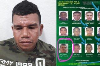 """En Tierralta capturan a """"El Moña"""", uno de lo más buscados de Córdoba"""