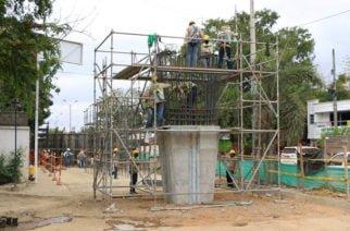 En un 53% avanza la construcción del puente el Asilo en Montería