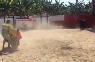 Vídeo: ¡Olé! Farid Ortíz sorprende toreando en Sahagún