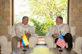 Aislar al gobierno de Maduro y reducir cultivos de coca, acordó Duque con Pompeo